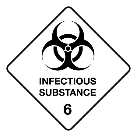 pathogenic: The illustration Represents signage, icon, hazard biological, chemical waste and hospital. Ideal for catalogs of institutional materials