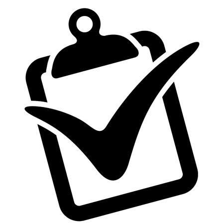 Illustration representing icon clipboard with right symbol, correct, OK, yes. Ideal for informational and institutional materials Illustration