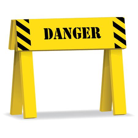 décrochage de signal, ne pas dépasser danger. Idéal pour la communication visuelle et matériaux institutionnels Vecteurs