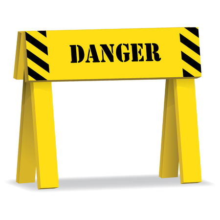 containment: Signal stall, not to exceed danger. Ideal for visual communication and institutional materials Illustration