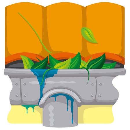 pista sucia y todavía obstruido por agua y fugas. Ideal para el saneamiento y la atención relacionada con el informativo e institucional