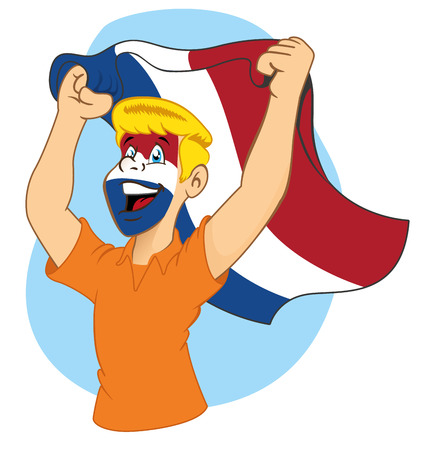 vibrating: Dutch supporter vibrating