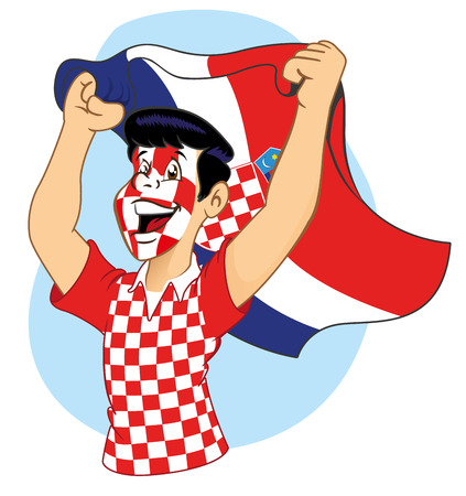 Man croatian supporter vibrating