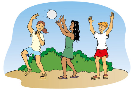 companionship: Children playing ball