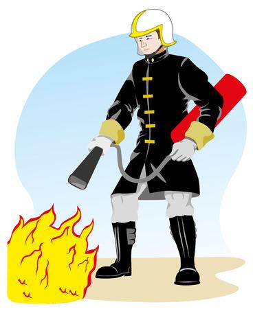 Man Occupation Fireman person