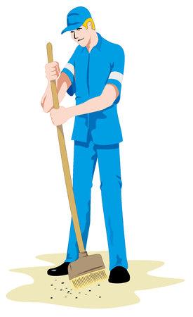 Man Job janitor person