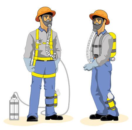 dioxido de carbono: Solo la nariz y la boca para proteger inhalan gases tóxicos causados ??por un accidente de trabajo