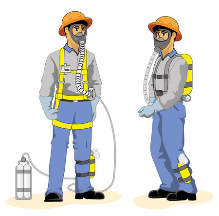 Single protecting nose and mouth to inhale poisonous gases Caused by an accident at work
