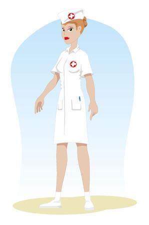 Professional nurse of the area of ??nursing