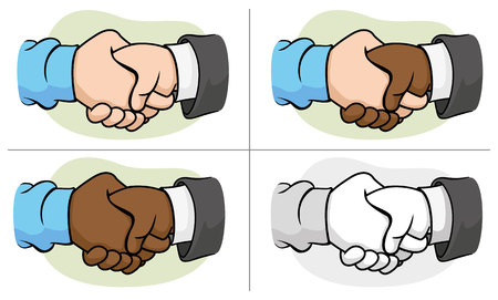 strengthen: Illustration of two hands shaking hands with handshake Illustration
