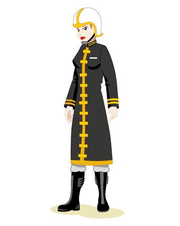 Profesional bombero uniforme mujer