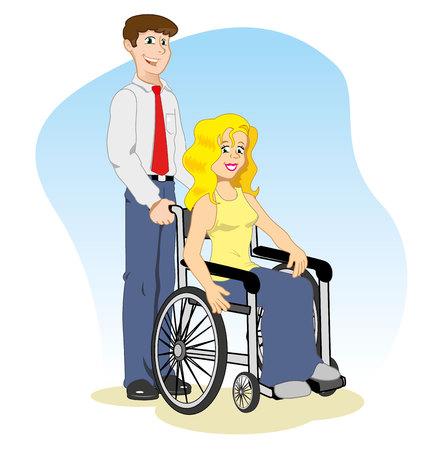 woman wheelchair with companion