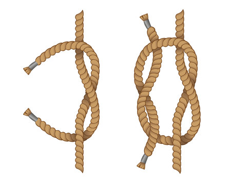 Education illustration of eight knot with. Ideal for training and educational materials