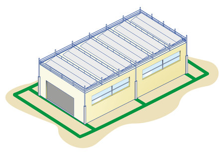 Faraday kooi beschermingssysteem Vector Illustratie