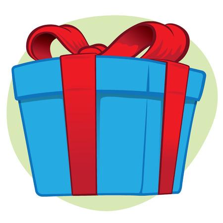 Illustration representing a gift box