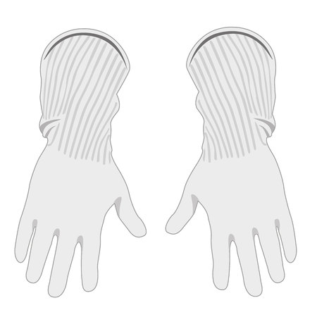 conductive: Illustration representing some safety equipment, non-conductive insulating conductive gloves. Ideal for maintenance of electrical networks Illustration