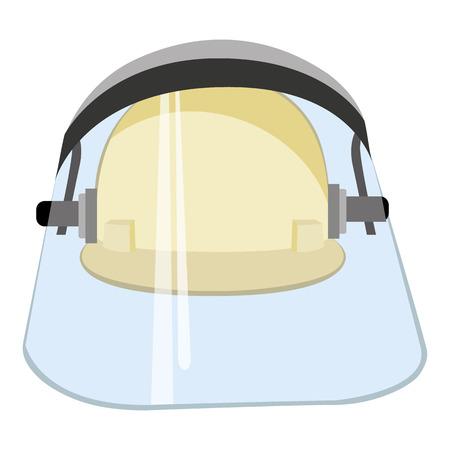 shrapnel: Illustration representing a safety helmet with display
