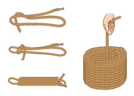 Anweisung Abbildung mit machen organisieren und Seil halten. Ideal für Schulungs- und Unterrichtsmaterialien