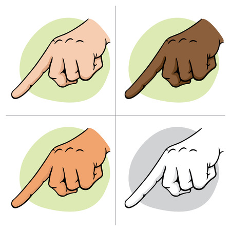 Close body part, hand pointing, pointing and squeezing or something, ethnicity. Ideal for educational and institutional materials