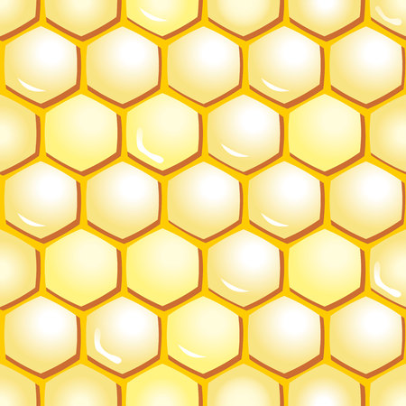 apiculture: Illustration background wallpaper, wallpaper with honeycomb, beehive.
