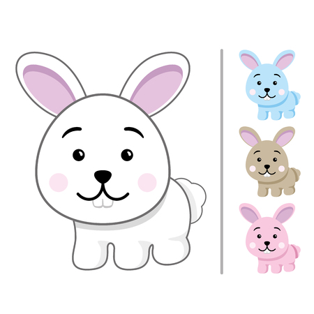 Illustration of an easter bunny mascot.