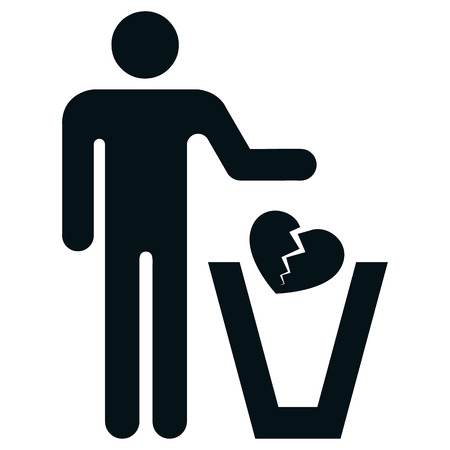 Couple pictogram icon.