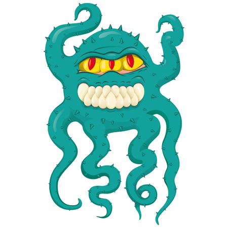Representation cartoon to super bacterium to microorganism, virus. Ideal for informative and medicinal materials