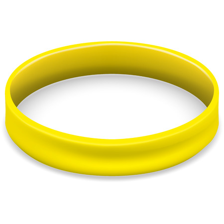 Symbol of fight and awareness icon, yellow, golden bracelet. Ideal for educational and informational materials Illustration