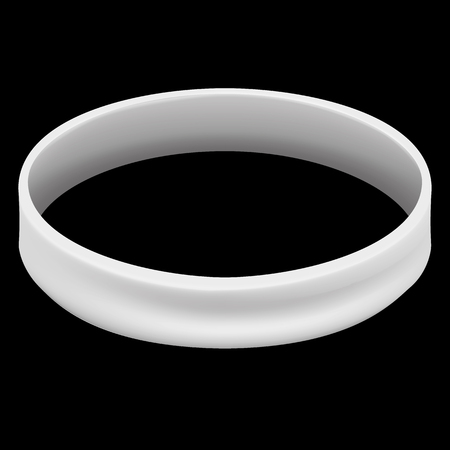 infected: Symbol icon of fight and conscientization, white bracelet. Ideal for educational and informational materials