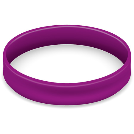 Icon symbol of the fight and awareness, purple bracelet. Ideal for educational and informational materials Illustration