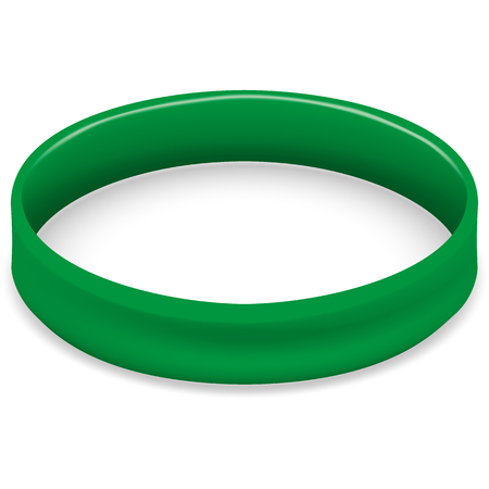 lyme disease: Symbol of fight and awareness icon, green bracelet. Ideal for educational and informational materials