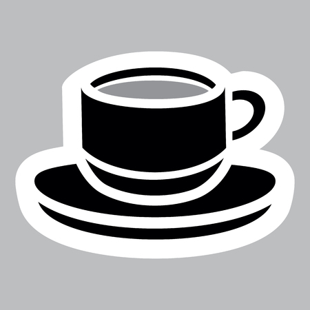Icon pictogram representing mug or cup.
