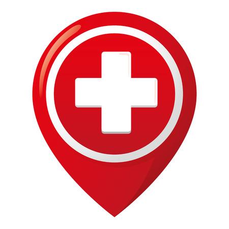 Icon representing hospital.