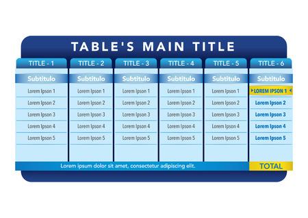 データ表のテンプレートです。プレゼンテーションや機関の材料に最適です。