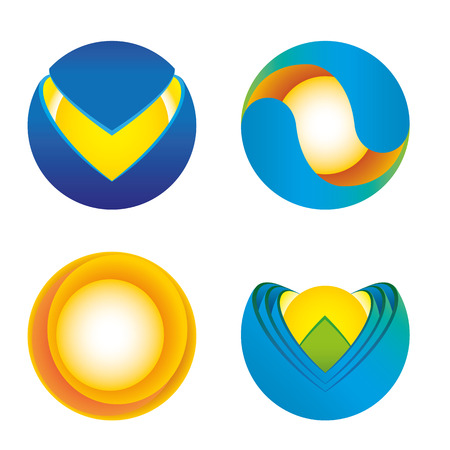 Icon geometric sphere icon with cut. Ideal for visual communication, information and institutional material