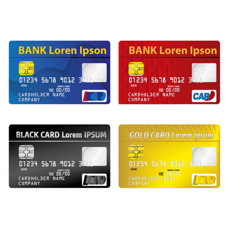 Illustration represents a credit or debit card, miscellaneous. ideal for promotional and institutional campaigns