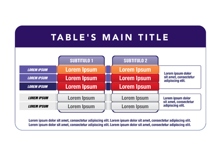 Data table template.