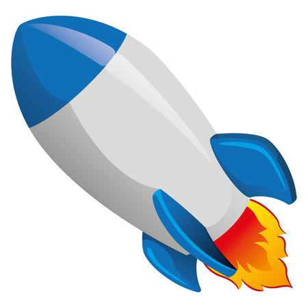 ufology: Illustration of a rocket.