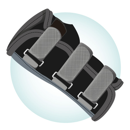 Illustration depicts an orthopedic brace, tendinitis, ethnicity. Ideal for training and institutional materials