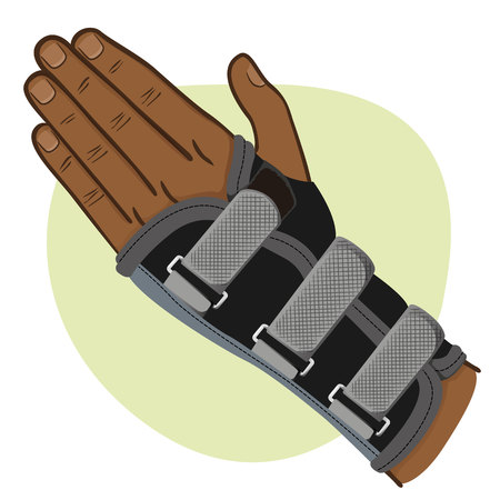 Illustration depicts  wrist hand.