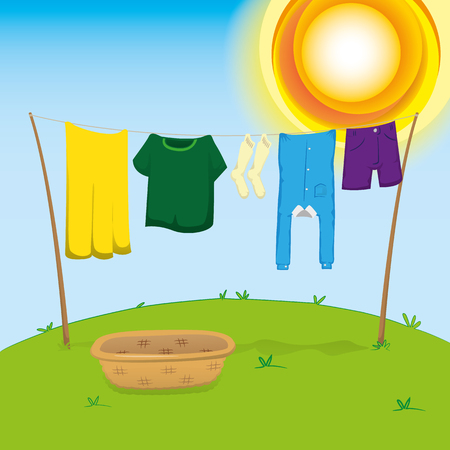 Clothes Drying Cartoon Cute Paper Humanities Text Box, Cartoon, Lovely,  Textbox PNG Transparent Clipart Image and PSD File for Free Download