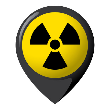 Icon representing radiation product location and radioactive debris ideal for catalogs of institutional materials
