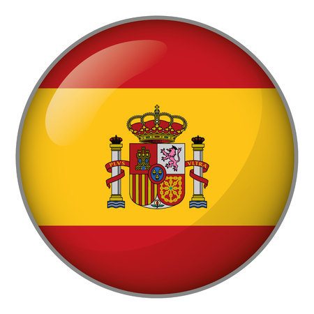 Flag of Spain. Ideal for catalogs of institutional materials and geography