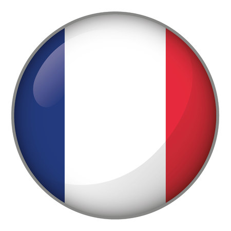 Icon representing the flag of France. Ideal for catalogs of institutional materials and geography.
