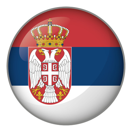 Flag of Serbia. Ideal for catalogs of institutional materials and geography Illustration