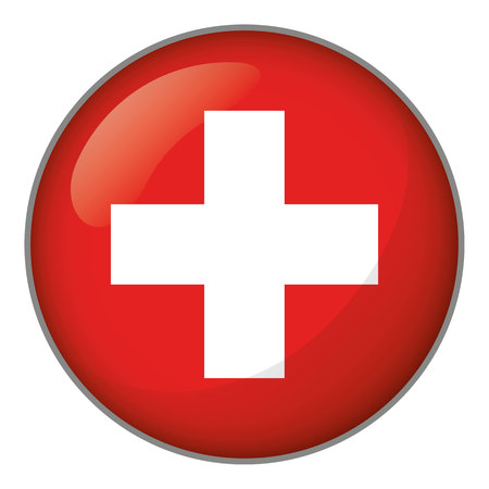 Flag of Switzerland. Ideal for catalogs of institutional materials and geography