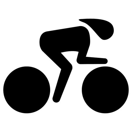 Illustration represents pictogram of sport bike speed, race in the Velodrome. Ideal for sports and institutional materials Ilustração