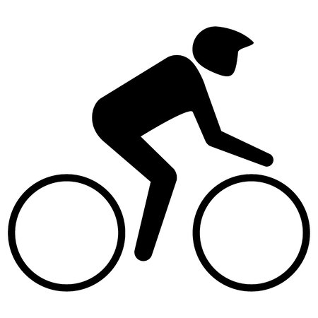 Illustration represents pictogram of sport bike, games with race. Ideal for sports and institutional materials