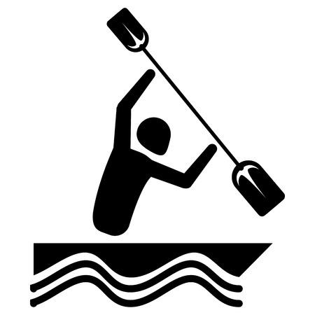 Illustration of rowing man. Illustration