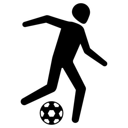 Illustration soccer sport pictogram, football game.